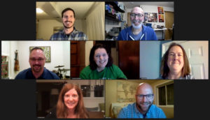 Picture of Mountain Sage Board from Zoom meeting on December 8, 2020